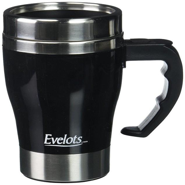 Self Stirring Travel Mug, Self Stainless  Coffee Cup, Black