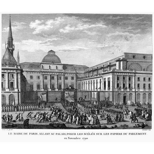French Revolution, 1790. /Nthe Mayor Of Paris, Jean-Sylvain Bailly, Going T