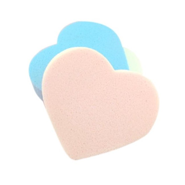 4-Piece Pro Makeup Blender Foundation Puff Heart-shaped Sponges