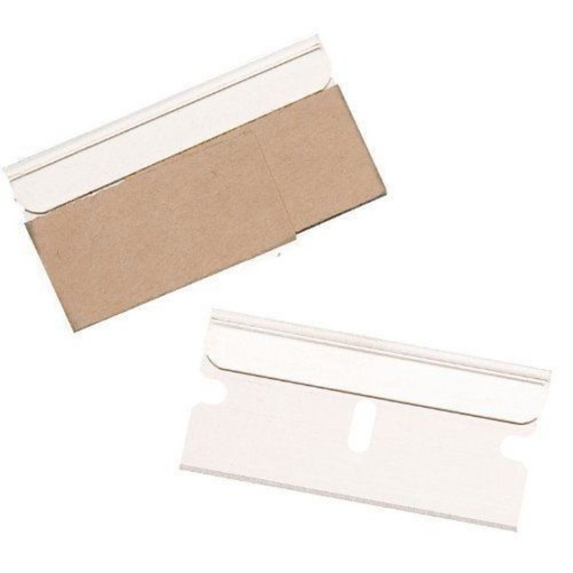 100 PACK Razor Scraper Blades Single Edge Box Cutter Knife Paint Glass