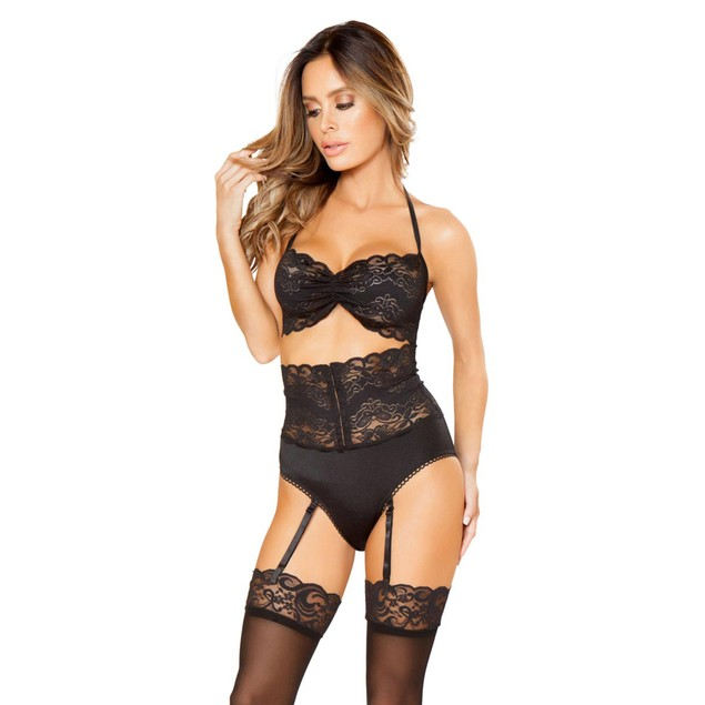 Flirty High Waist Bra Set