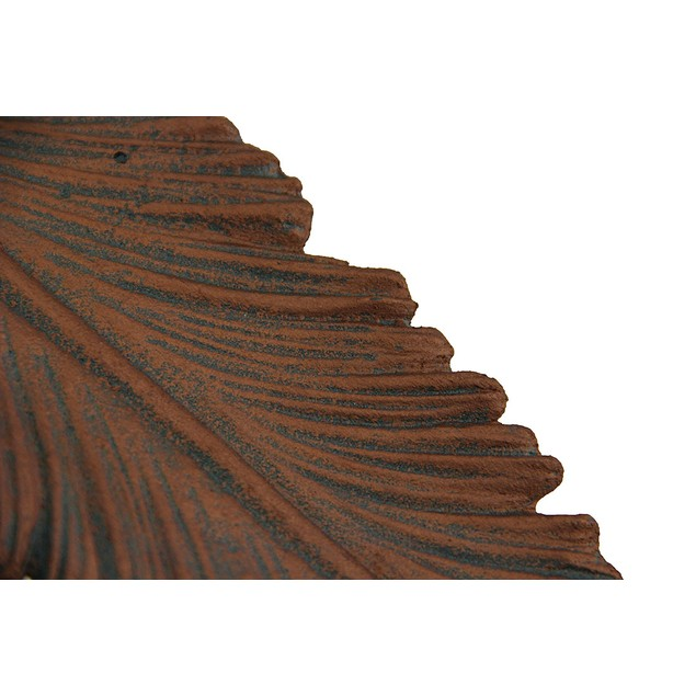 Copper Colored Feather Cast Iron Accent Tray 15 Decorative Trays