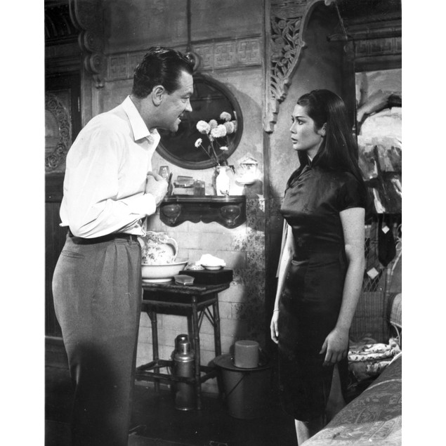 World Of Suzie Wong Couple Talking in Movie Scene Poster