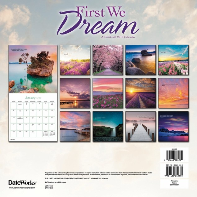 First We Dream Wall Calendar, More Inspiration by Calendars