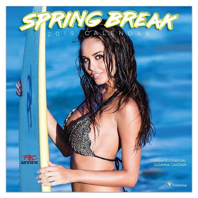 Spring Break Wall Calendar, Swimsuit Models by TF Publishing