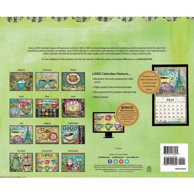 Coffee Wall Calendar, Coffee & Tea by Lang Companies