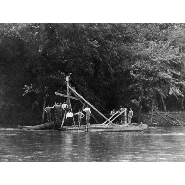 Snag Boat, C1910. /Na Snag Boat Clearing Snags Along The Current River, Sou