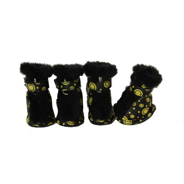 Fashion Premium Fur-Comfort Supportive PVC Pet Boots Shoes - Set of 4