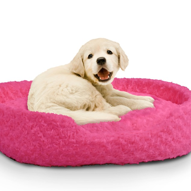 PETMAKER Cuddle Round Plush Pet Bed