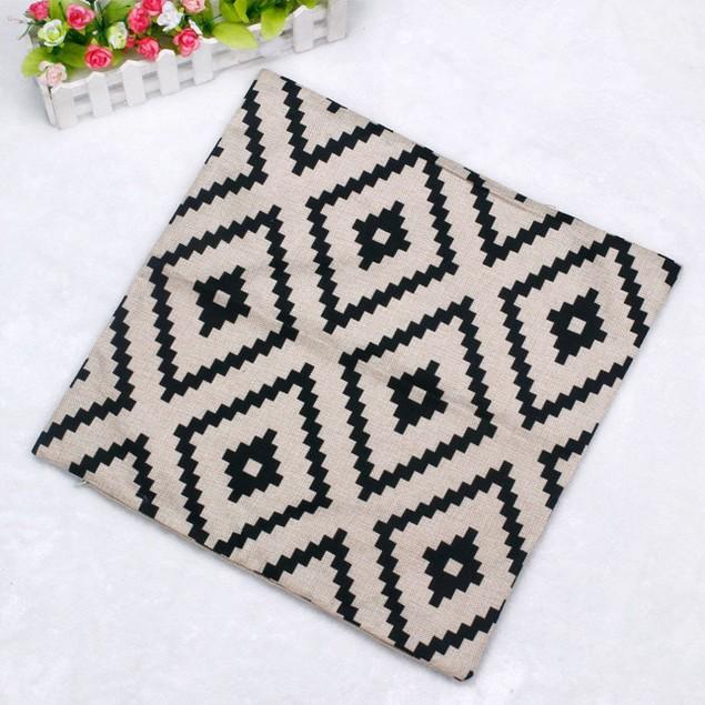 Geometric Argyle Linen Throw Pillow Case Cushion Cover Home Decor