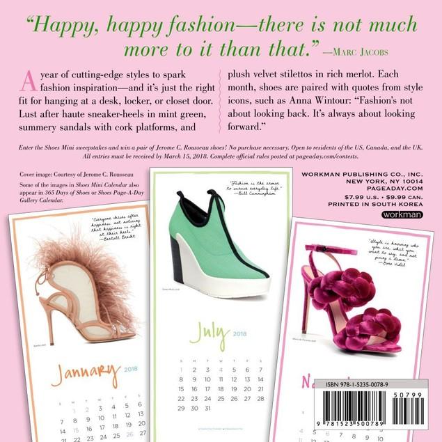 Shoes Mini Wall Calendar, Fashion by Calendars