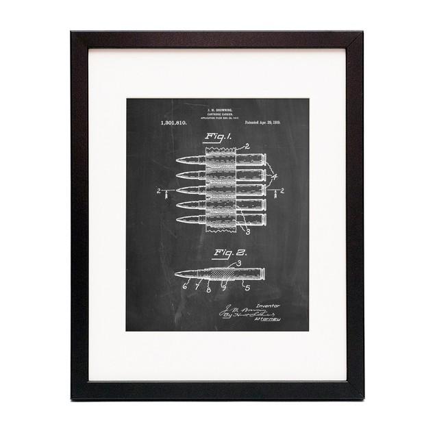 Machine Gun Bullet Carrier Belt Patent Poster