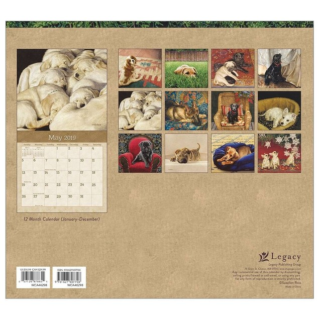 Puppies Wall Calendar, Cute Puppies by Calendars