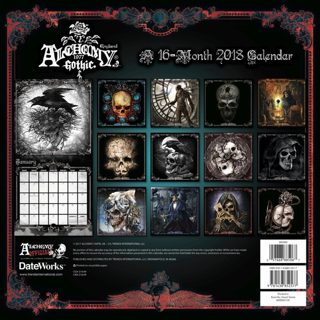 Alchemy Art Wall Calendar, Fantasy Art by Calendars