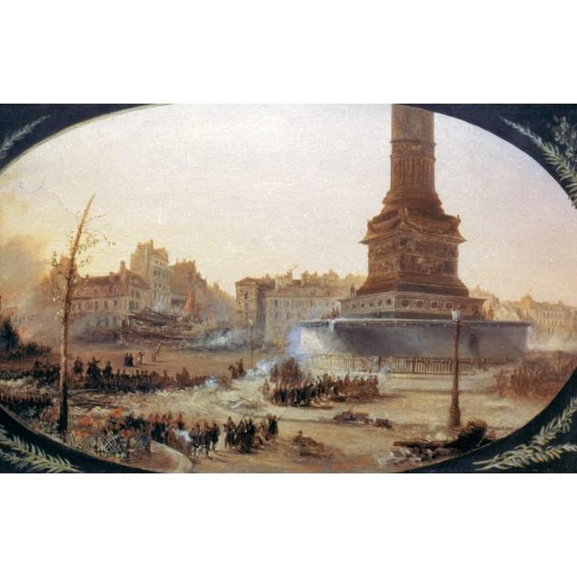 France: Revolution, 1848. /Nbarricade On Place De La Bastille During The Wo
