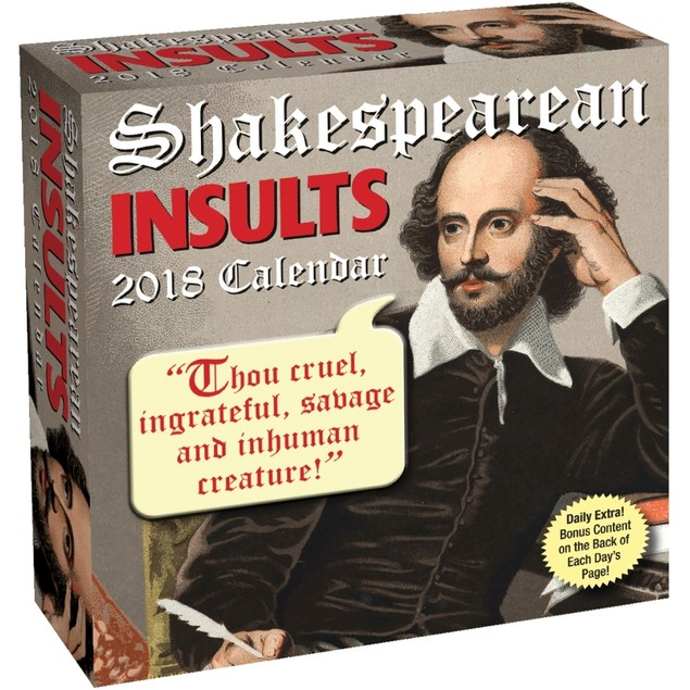 Shakespearean Insults Desk Calendar