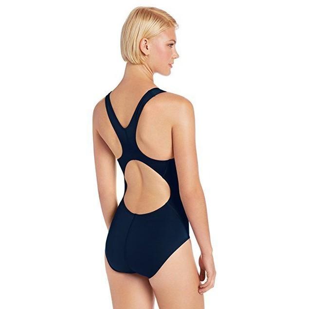 TYR SPORT Women's Durafast Elite Solid Maxfit Swimsuit (Navy, Size 36)