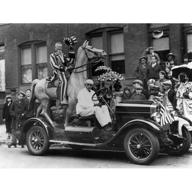 Mummers Parade, 1929. /Nuncle Sam Riding On A Float In The Mummers Parade O