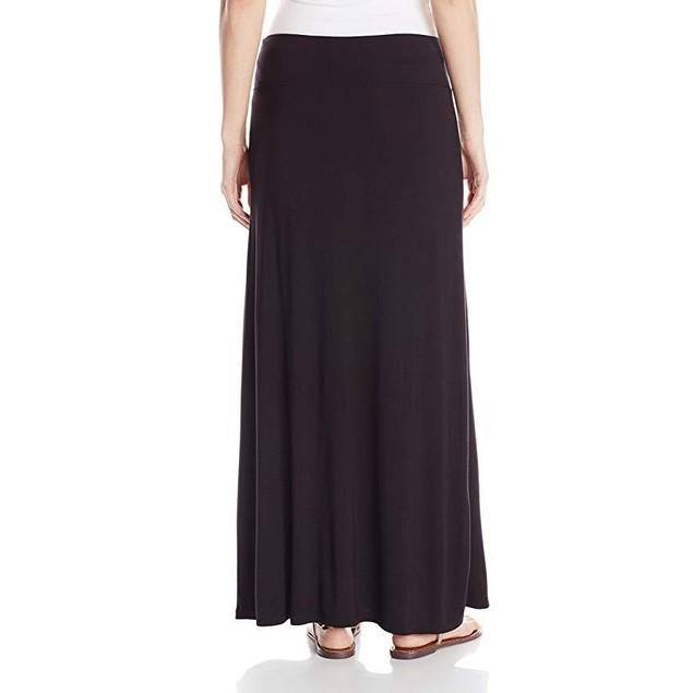 New kensie Women's Light Weight Jersey Maxi Skirt, Black, X-Small