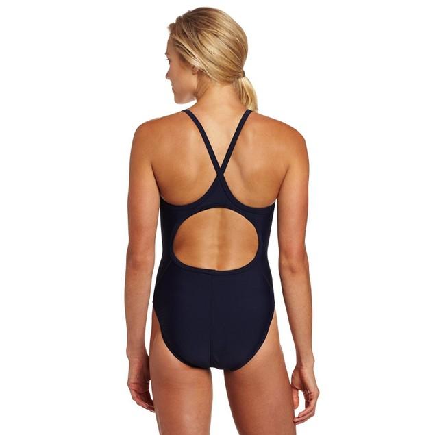 NWT TYR Sport Women's Solid Diamondback Swim Suit Navy SIZE 30