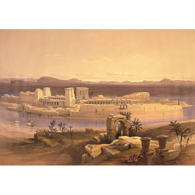 General view of the island of Philae Nubia Nov 18th 1839 Poster