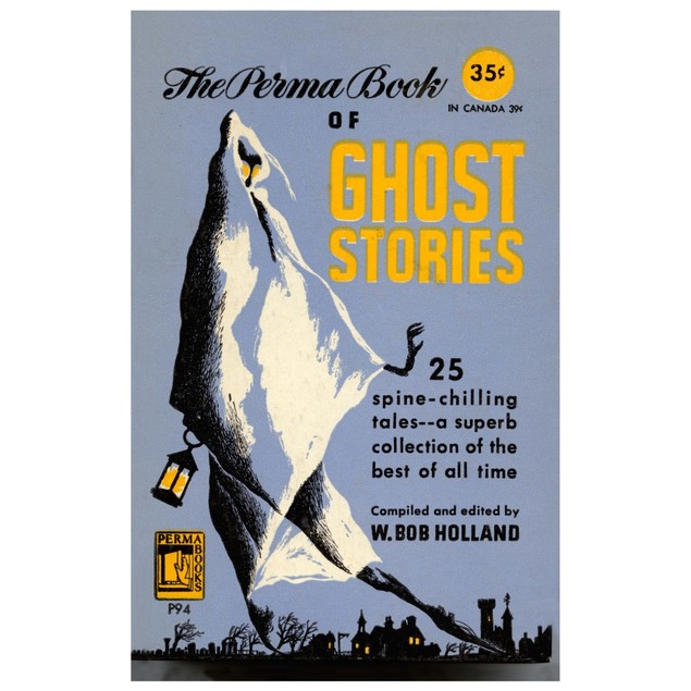"""Book cover to a paperback edition of """"The Perma Book of Ghost Stories"""" Post"""