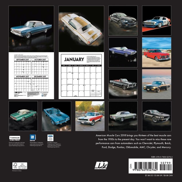 American Muscle Cars Mini Wall Calendar, Muscle Cars | Hot Rods by Quarto