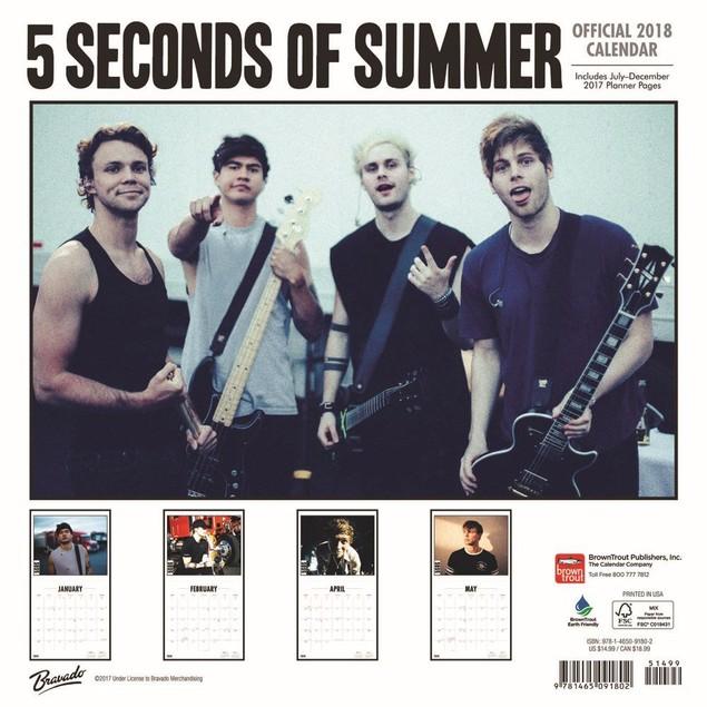 5 Seconds of Summer Wall Calendar, Rap | Pop by Calendars