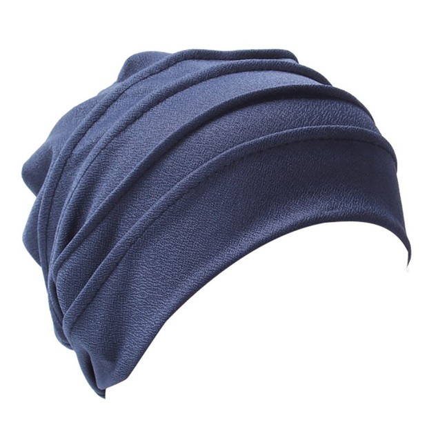Women Bowknot Muslim Ruffle Cancer Chemo Hat Scarf Turban Head Wrap Cap E
