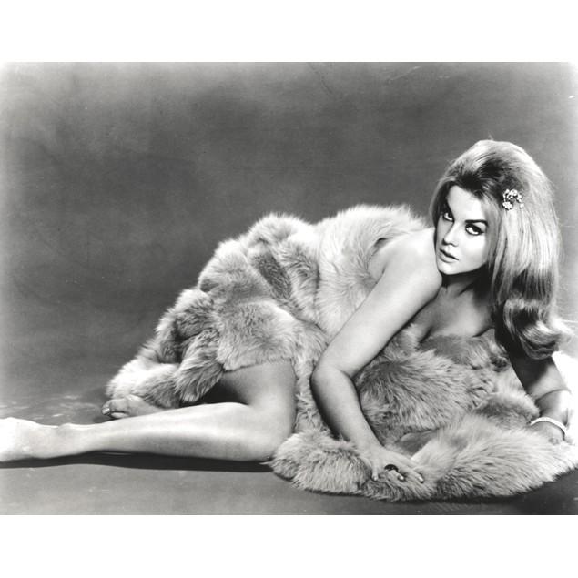 Ann-Margaret lying down in fur Poster