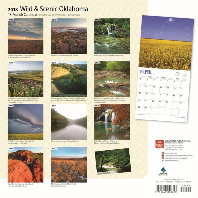 Oklahoma Wild and Scenic Wall Calendar, More U.S. States by Calendars