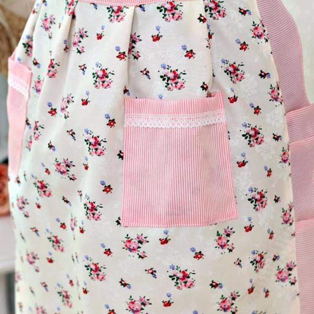 Women's Home Kitchen Four Pocket Cooking Cotton Apron