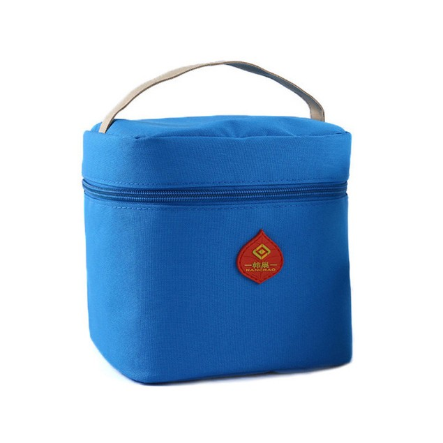 Waterproof Insulated Zippered Lunch Bag - 4 Colors