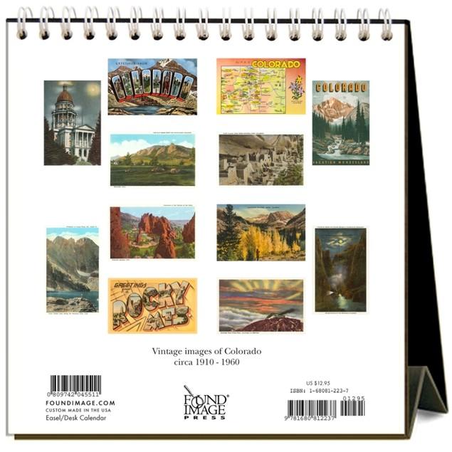Colorado Nostalgic Easel Calendar, Colorado by Found Image Press