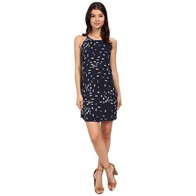 Brigitte Bailey Women's Capri Printed Dress Navy Combo Dress MD