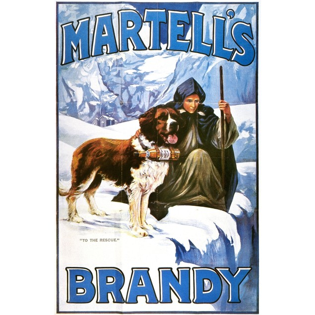 Brandy Advertisement, 1910. /N'To The Rescue.' English Magazine Advertiseme