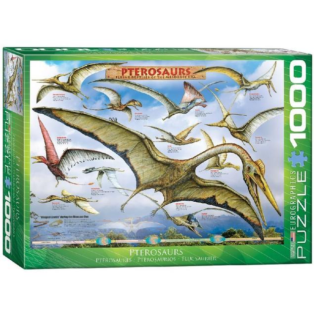 Pterosaurs 1000 Piece Puzzle, 1,000 Piece Puzzles by Eurographics