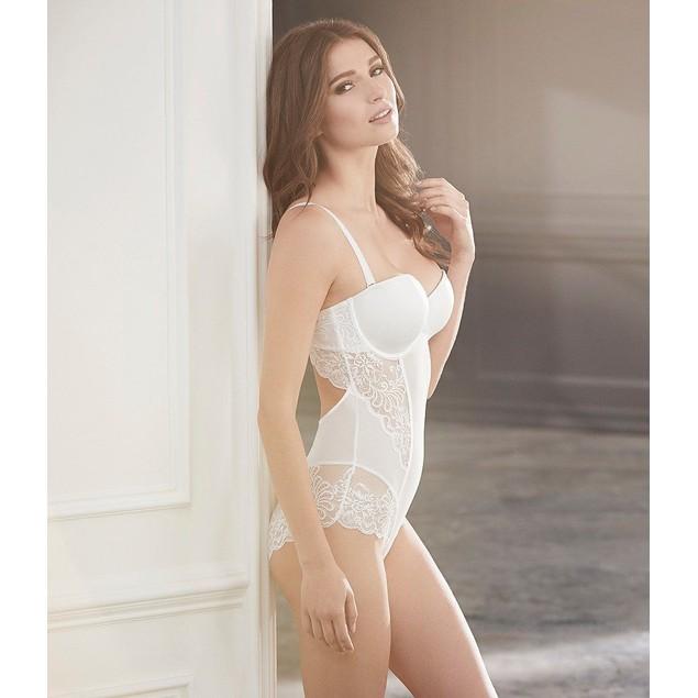 Le Mystere Sophia Scalloped Lace Convertible Bodysuit SIZE 34D