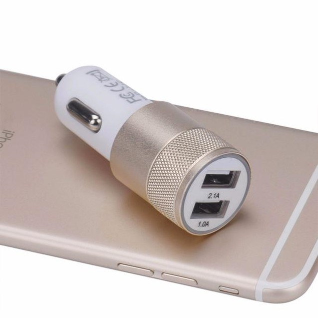 Mini Dual 2 Port 12V USB Auto In Car Charger Adapter Adaptor Charging