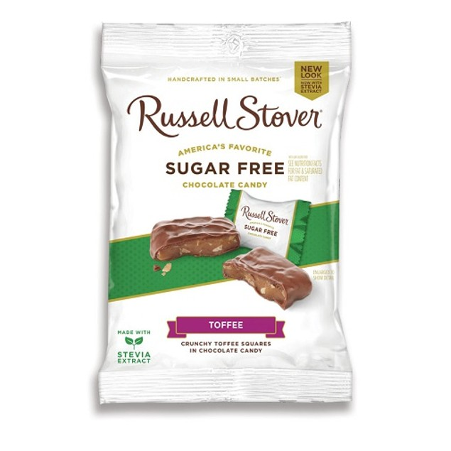 Russell Stover Chocolate Sugar Free Toffee