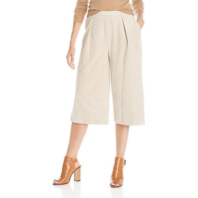 Calvin Klein Women's Pleated Culotte, Latte, 10