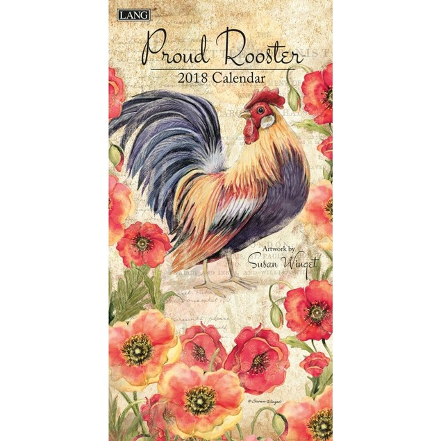 Proud Rooster Slim Wall Calendar, Susan Winget by Calendars