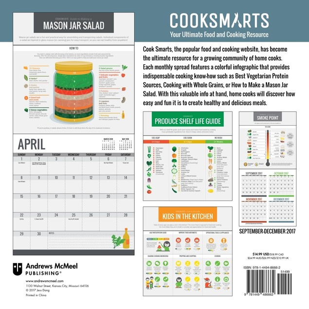 Cook Smarts Wall Calendar, Cooking by Andrews McMeel Publishing