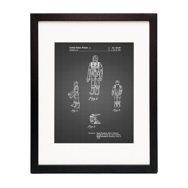 Star Wars Bossk Patent Poster