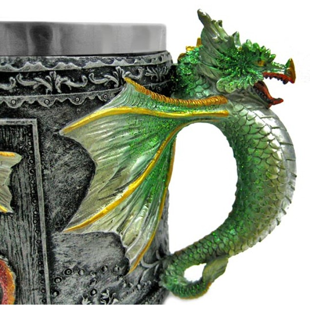 Gothic Dragon Tankard Coffee Mug Cup Medieval Novelty Coffee Mugs