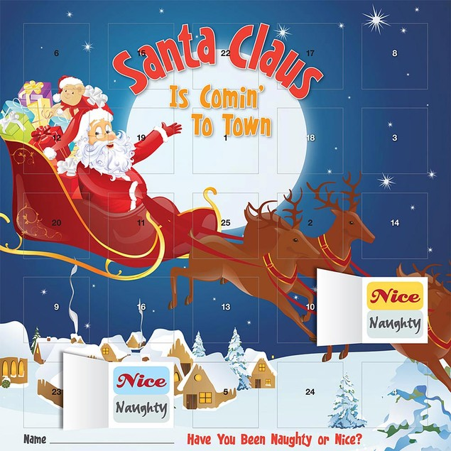 Santa Claus Is Comin To Town Advent Calendar, Advent Calendars by BrownTrou