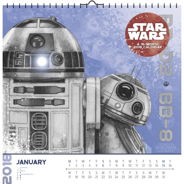 Star Wars Episode VIII Art Wall Calendar, Star Wars by Trends International