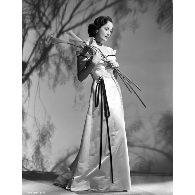 Merle Oberon on a Dress with Twigs Poster