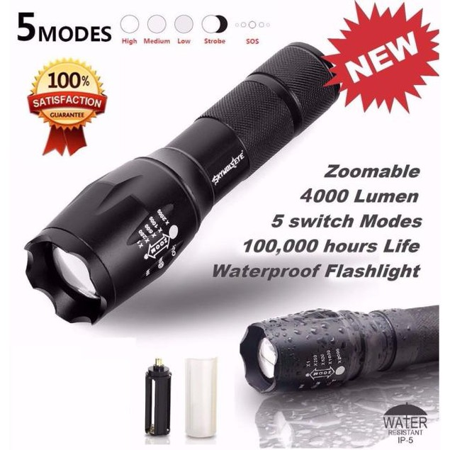 LED Flashlight G700 SkyWolfeye X800 Zoom Super Bright