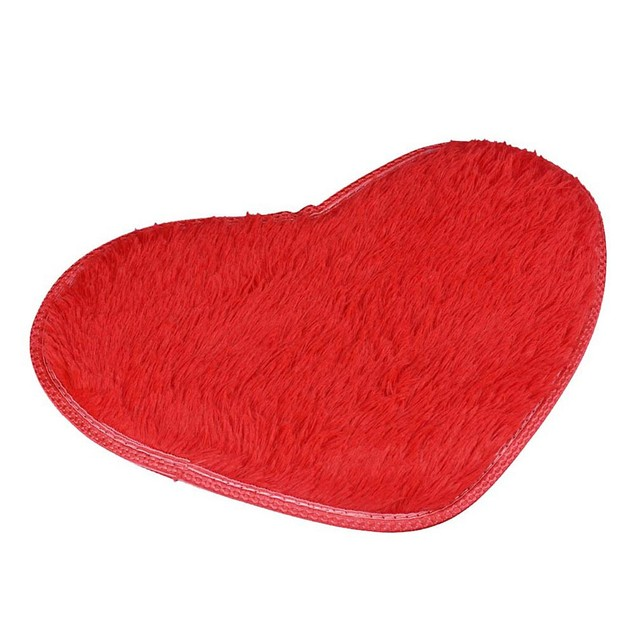 40x28cm Heart-Shape Non-Slip Bath Mat - Assorted Colors